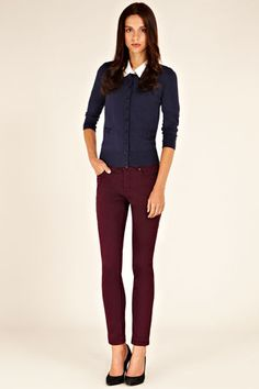 great color combo.  need burgundy denim!