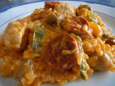 Risotto au chorizo et poulet (manuel) http://mesrecettescookeo.jimdo.com/plats/plats-2/#risotto_chorizo