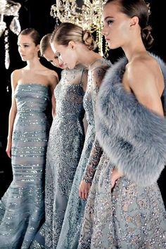 "lesfressange89: "" kurkova: "" Elie Saab Backstage Haute Couture FW14 "" Dead Of fierceness """