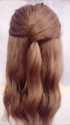 Half Pony Hairstyles, Cute Hairstyles For Medium Hair, Medium Hair Styles, Braided Hairstyles, Long Hair Styles, Halfway Up Hairstyles, Half Up Half Down Hairstyles, Hairstyles For Women, Easy Homecoming Hairstyles
