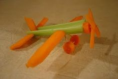 This is too cute!  Celery carrot plane