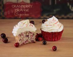 Orange Cranberry Cupcakes With White Chocolate