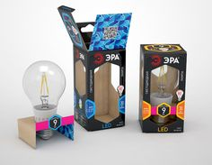 Packaging of the World is a package design inspiration archive showcasing the best, most interesting and creative work worldwide. Packaging Design Inspiration, Make Your Mark, Design Reference, Bookends, Creative Package, Led, Package Design, Bulbs, Gallery