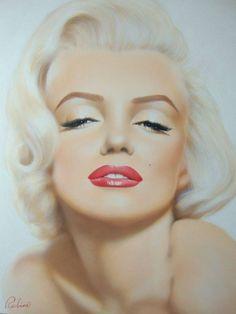 Marilyn Monroe Art, oil painting.