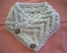 Popular items for knit button cowl on Etsy
