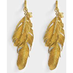 Versace Versace Tribute Native American earrings (35.960 RUB) ❤ liked on Polyvore featuring jewelry, earrings, metallic, stone jewelry, versace, roaring 20s jewelry, versace jewelry and polka dot earrings