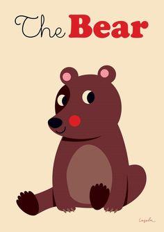 #Bear #Poster by #Ingela beer poster 50x70 #Kidsroom from www.kidsdinge.com    www.facebook.com/pages/kidsdingecom-Origineel-speelgoed-hebbedingen-voor-hippe-kids/160122710686387?sk=wall         http://instagram.com/kidsdinge #Kidsdinge #Toys #Speelgoed