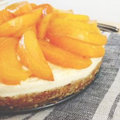 Fresh Apricot Lemon Nut Free Cheesecake | Real Raw Kitchen