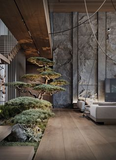 Modern Luxury Country House With Skylights & A Majestic Bonsai Garden Dream Home Design, Modern House Design, Home Interior Design, Exterior Design, Interior Architecture, Villa Design, Interior Staircase, Country House Design, Interior Garden