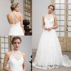 vestido de novia boho halter · Wedding dress boho halter neck - www.santoencanto.cl/vestidos-de-novia/