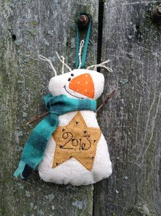 Snowman Ornament Machine Embroidery Design by BruinsEmbroidery, $4.50