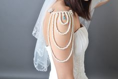 DIY Shoulder Jewelry-How to Make a Special Pearl Body Jewelry