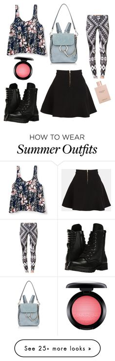 """""""Cute summer outfit"""" by courtneypoo on Polyvore featuring Parker, Aéropostale, Capezio, Chloé, MAC Cosmetics and Gucci"""