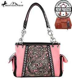 MW141G-8085 Montana West Concealed Handgun Collection-Pink - Handbags, Bling & More!