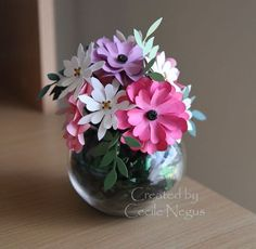 3d stampin up projects   Isnt this the most gorgeous bunch of handcrafted flowers? It was a ...