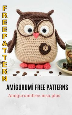 Cute owl amigurumi free pattern is waiting for you in this article. We continue to share the latest amigurumi crochet recipes. Owl Crochet Pattern Free, Crochet Patterns Amigurumi, Amigurumi Doll, Crochet Toys, Free Crochet, Free Pattern, Animal Knitting Patterns, Owl Patterns, Stuffed Animal Patterns