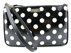 Kate Spade Linet Carlisle Street Top Handle Large Wristle Polka Dots Black/Cream  http://www.beststreetstyle.com/kate-spade-linet-carlisle-street-top-handle-large-wristle-polka-dots-blackcream/