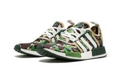 b66582a146fd Adidas NMD R1 Bape Bathing Ape Green Camo Camouflage BA7326 US Size 5