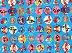 Tissu papillons 100% coton fond bleu 50 x 45 cm ( la pièce ) : Tissus pour Patchwork par une-histoire-de-mode