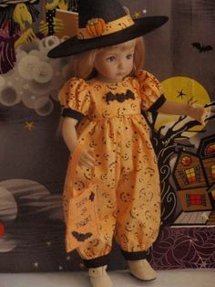 "Cute Halloween ""Sisters"" Romper for Effner Little Darling 13"" by Victoreeanna"