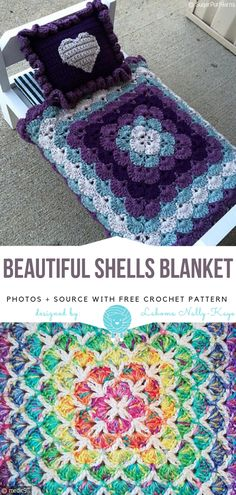 Beautiful Shells Blanket Free Crochet Pattern Source by . Crochet Shell Blanket, Crochet Shell Pattern, Crochet Bedspread Pattern, Granny Square Crochet Pattern, Crochet Diagram, Afghan Crochet Patterns, Crochet Blankets, Crochet Afghans, Bag Crochet