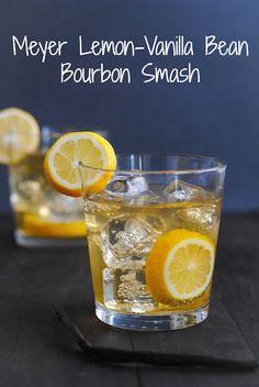 Meyer Lemon & Vanilla Bean Bourbon Smash | 18 Summer Smash Cocktails You Need In Your Life