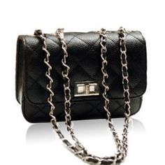 Chanel Inspired, Goodwill priced - $9.43 Elegant Women's Shoulder Bag With Solid Color Quilting and Chain Design