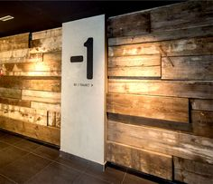 Contemporary Concept of Beograd Hotel by CRAFT warm wood wall