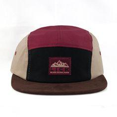 Peak Camp Cap (Crimson/Khaki) - Long Island City Kleaners