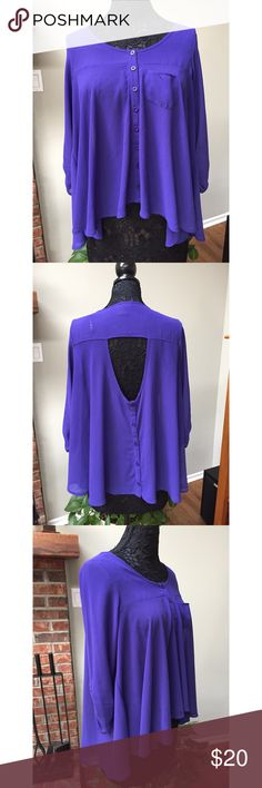Material Girl Purple Blouse Excellent condition material girl purple Blouse. Super flowy and Loose with an adorable fit. Juniors size large and runs true to size. Material Girl Tops Blouses