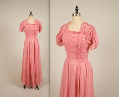 RESERVED  1930s dreamy chiffon gown  vintage by MintageClothingCo