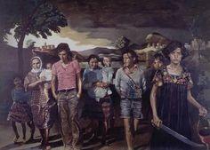 Yvonne Poussin, oil on canvas, cm, 1976 – Katia Gerou & Kyriakos Katzourakis Conceptual Art, Printmaking, Oil On Canvas, Sculptures, Painting, Fine Art, Prints, Photography, Greece