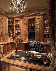 Victorian Study/Library in Oak - Clive Christian Interiors, London, UK