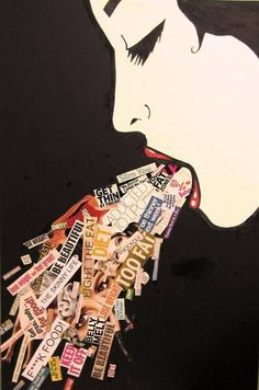 Bulimia Nervosa art project. Use this as an example for students ...