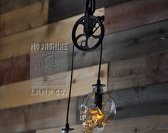 The Moroccan Repurposed Glass Bottle Chandelier by MoonshineLamp