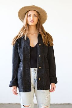 Prepare for festival season!! This oversized denim jacket is to die for!