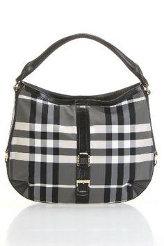 f905d5e74e7b Burberry Medium Grafton Hobo in Charcoal Check  1495.00 Prada Handbags