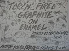 Grains of Glass - TORCH FIRED ENAMEL #2- GRAPHITE - TUTORIAL - Chris Hierholzer