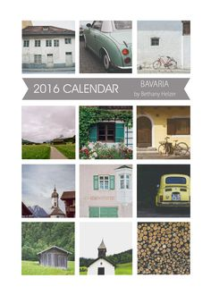 2016 Desk Calendar by riotjane on Etsy #Bavaria #Germany #wanderlust