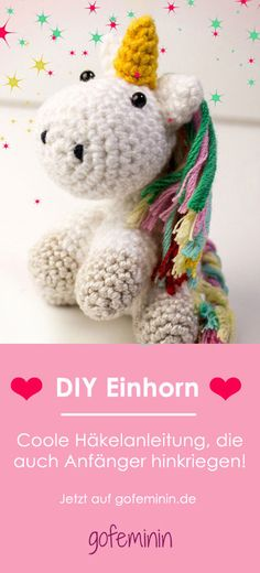 So häkelt ihr euch ein süßes DIY-Einhorn ganz einfach selbst Crochet Pattern for a Unicorn & Tutorial gratuito en alemán The post Poder del arco iris! Entonces te haces un lindo unicornio DIY appeared first on Crystal Wilson. Baby Knitting Patterns, Crochet Patterns, Diy 2019, Diy Cadeau, Crochet Diy, Diy Couture, Diy Presents, Cute Diys, Diy Toys