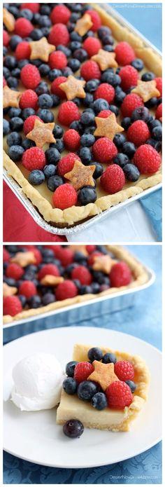 4th of July Slab Pie | That's My Kitchen