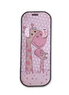 Reducteur avec protèges sangles confort universel girafe rose - Tris et Ton