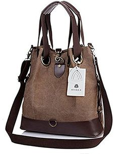Avber Womens Canvas Large Handbag Hobo Shoulder Bag