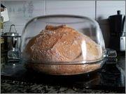 Pan con poolish de yogur de Xavier Barriga horneado en Pyrex