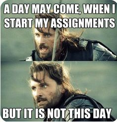 How are your assignments going?  We love this fun Lord of the Rings meme! #lordoftherings #assignment #usq
