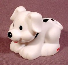 Fisher Price Little People BLACK /& WHITE PUPPY DOG PET for HOUSE