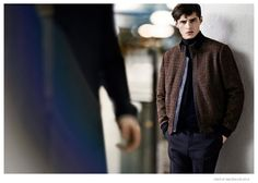 Adrien Sahores Poses in 70s Inspired Designs for Tiger of Sweden Fall/Winter 2014 Ad Campaign image Tiger of Sweden Fall Winter 2014 Campaign Adrien Sahores 002
