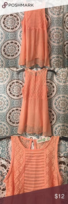 Peach colored sheer top Selena Gomez brand sheer peach top! Never worn in excellent condition! Can be worn for dress up or casual. Very cute! Selena Gomez Tops