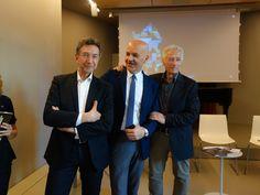 Marco Eugenio Di Giandomenico, Roberto Favaro and Pinuccio Sciola (Milan, April 14, 2016)