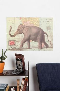Love it. Let's resolve to travel more. The Elephant Map poster from #urbanoutfitters